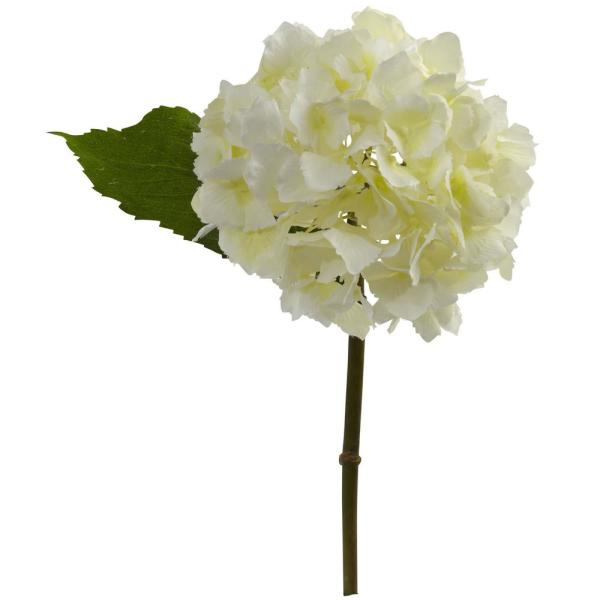 Nearly Natural Indoor 12 in. Hydrangea Artificial Flower (Set of 12)