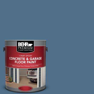 1 gal. #S520-6 Layers of Ocean 1-Part Epoxy Satin Interior/Exterior Concrete and Garage Floor Paint