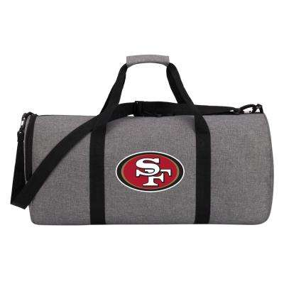 49ers Wingman 10 in. Heathered Gray Duffle Bag