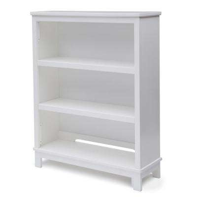 Universal 3-Shelf White Bookcase