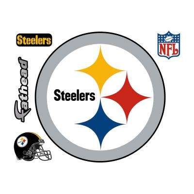 39 in. H x 39 in. W Pittsburgh Steelers Logo Wall Mural