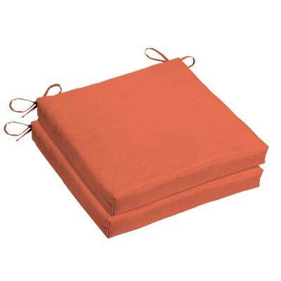 Orange Sunbrella Outdoor Cushions Patio Furniture The Home Depot