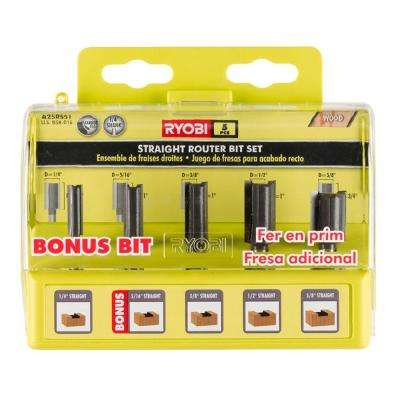 Straight Router Bit Set (5-Piece)