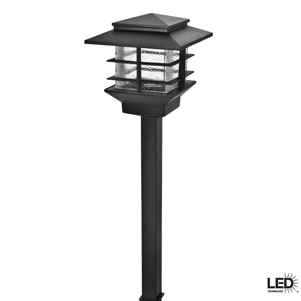 Hampton Bay Low-Voltage 3-Watt Black Outdoor Integrated