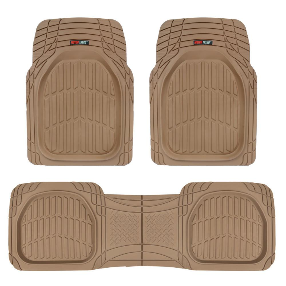 Deep Dish MT-923 Beige Heavy Duty 3 Piece All Weather Rubber