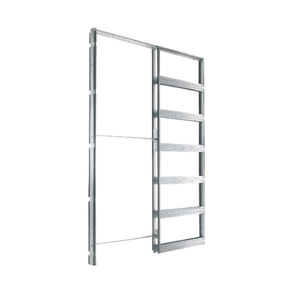 Eclisse 24 in. x 96 in. Steel Single Pocket Door Frame System
