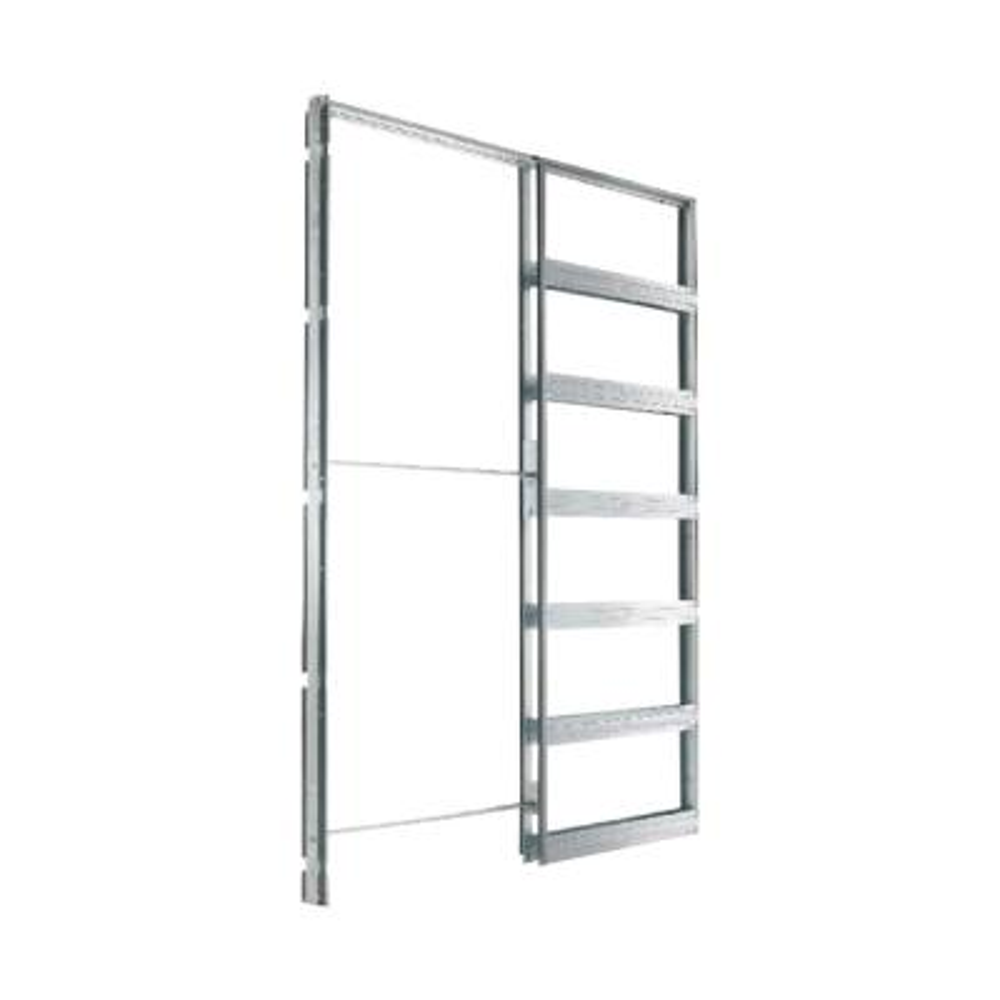 Eclisse 30 in. x 80 in. Steel Single Pocket Door Frame System