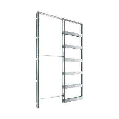 Eclisse 30 in. x 80 in. Steel Single Pocket Door Frame System