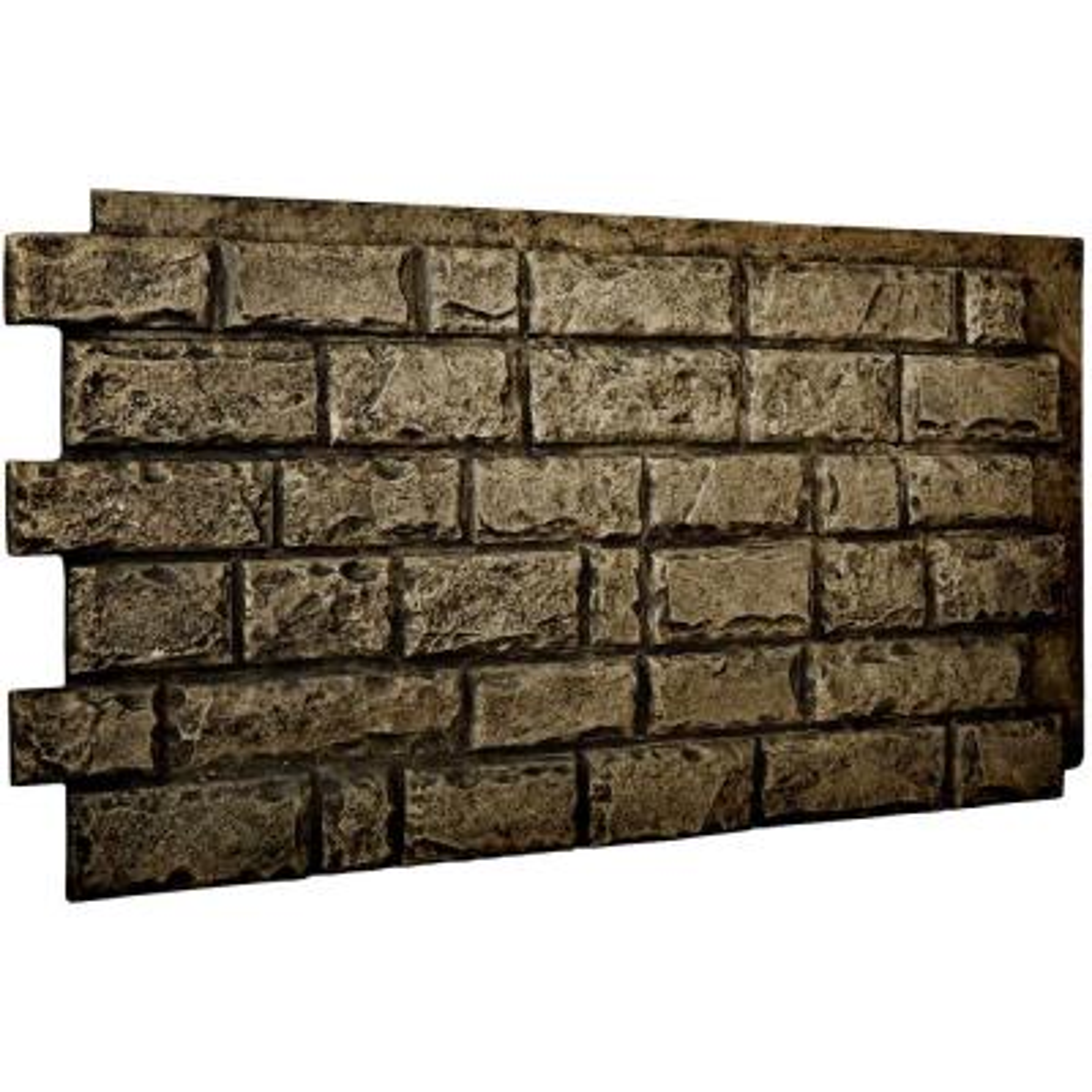 1-1/2 in. x 48 in. x 25 in. Grey Urethane Cut Coarse Random Rock Wall Panel