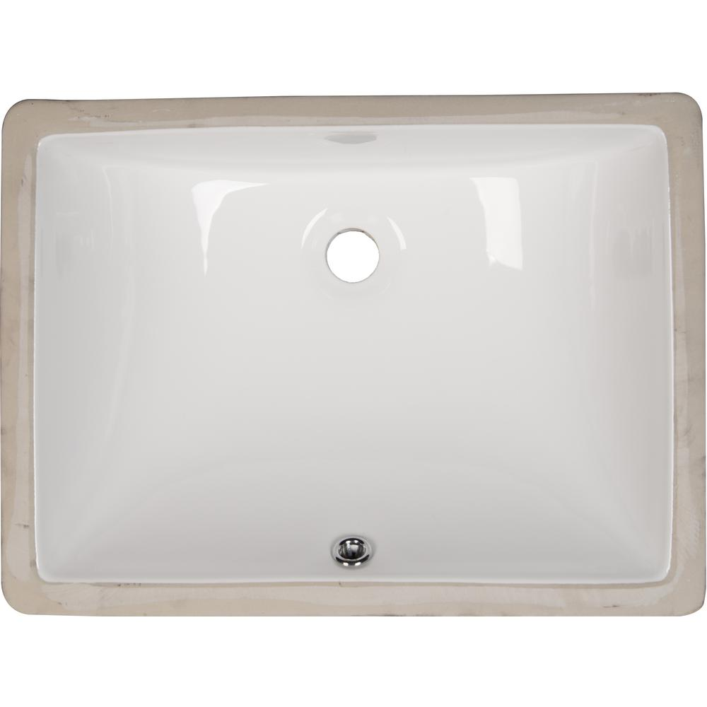 Home Depot Bathroom Vessel Sinks: KRAUS Square Ceramic Vessel Bathroom Sink In White-KCV-150