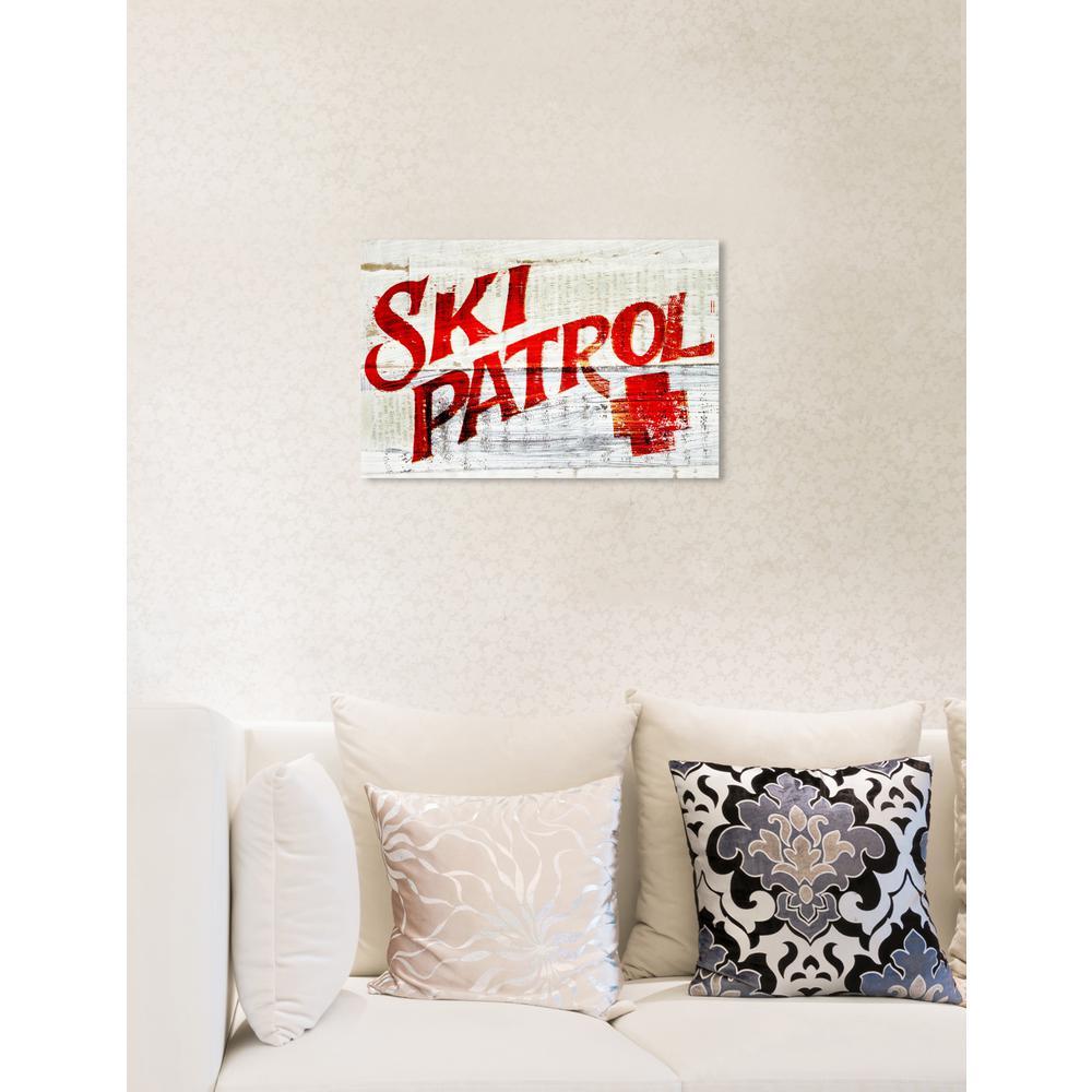 """Ski Patrol Vintage"" by Oliver Gal Canvas Wall Art"