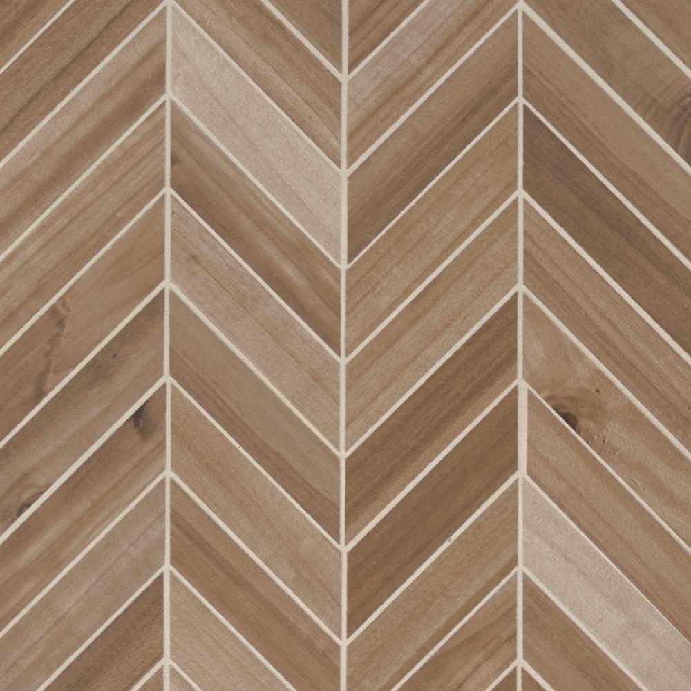 Backsplash Brown Porcelain Mosaic Tile Tile The Home Depot