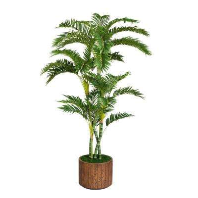 77 in. Tall Palm Tree in 16 in. Fiberstone Planter