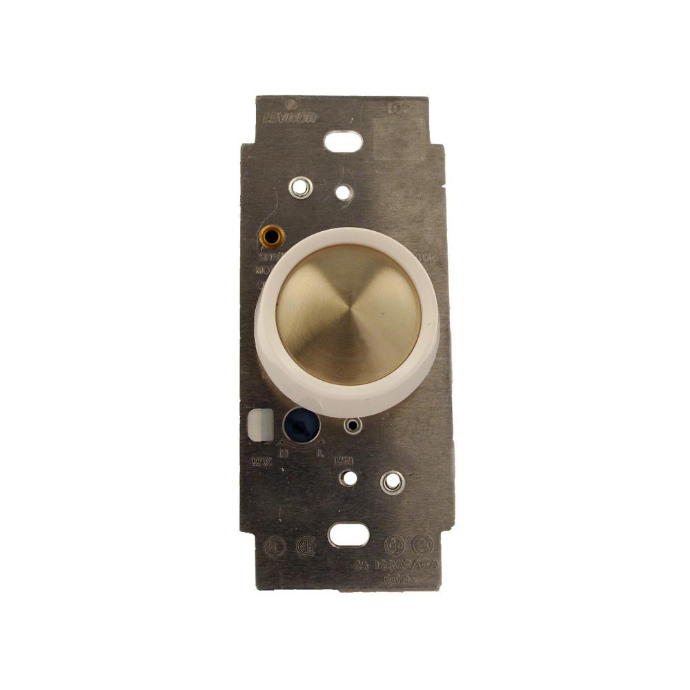 5-Amp Trimatron Single Pole Full Range Rotary Fan Speed Control, White