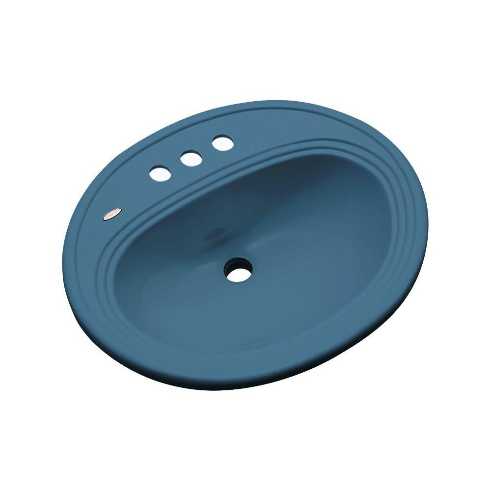 Thermocast Summit Drop-In Bathroom Sink in Rhapsody Blue