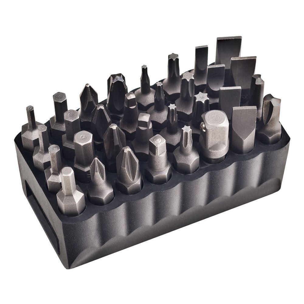 32 Piece Standard Tip Bit Set 32526 Klein Tools For