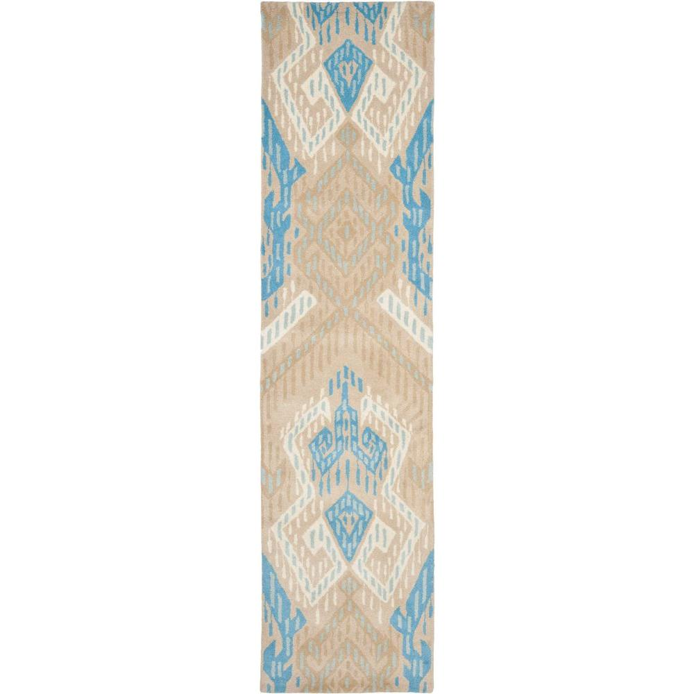 Safavieh Wyndham Blue/Ivory 2 ft. 3 in. x 9 ft. Runner