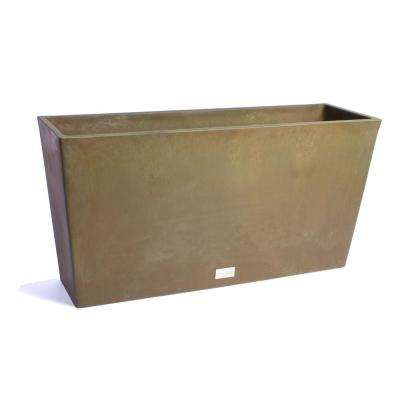 Midori 39 in. Bronze Trough Plastic Planter