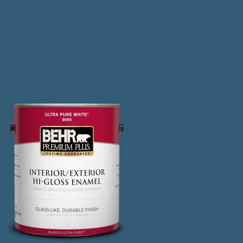 1-gal. #M490-7 Shasta Lake Hi-Gloss Enamel Interior/Exterior Paint