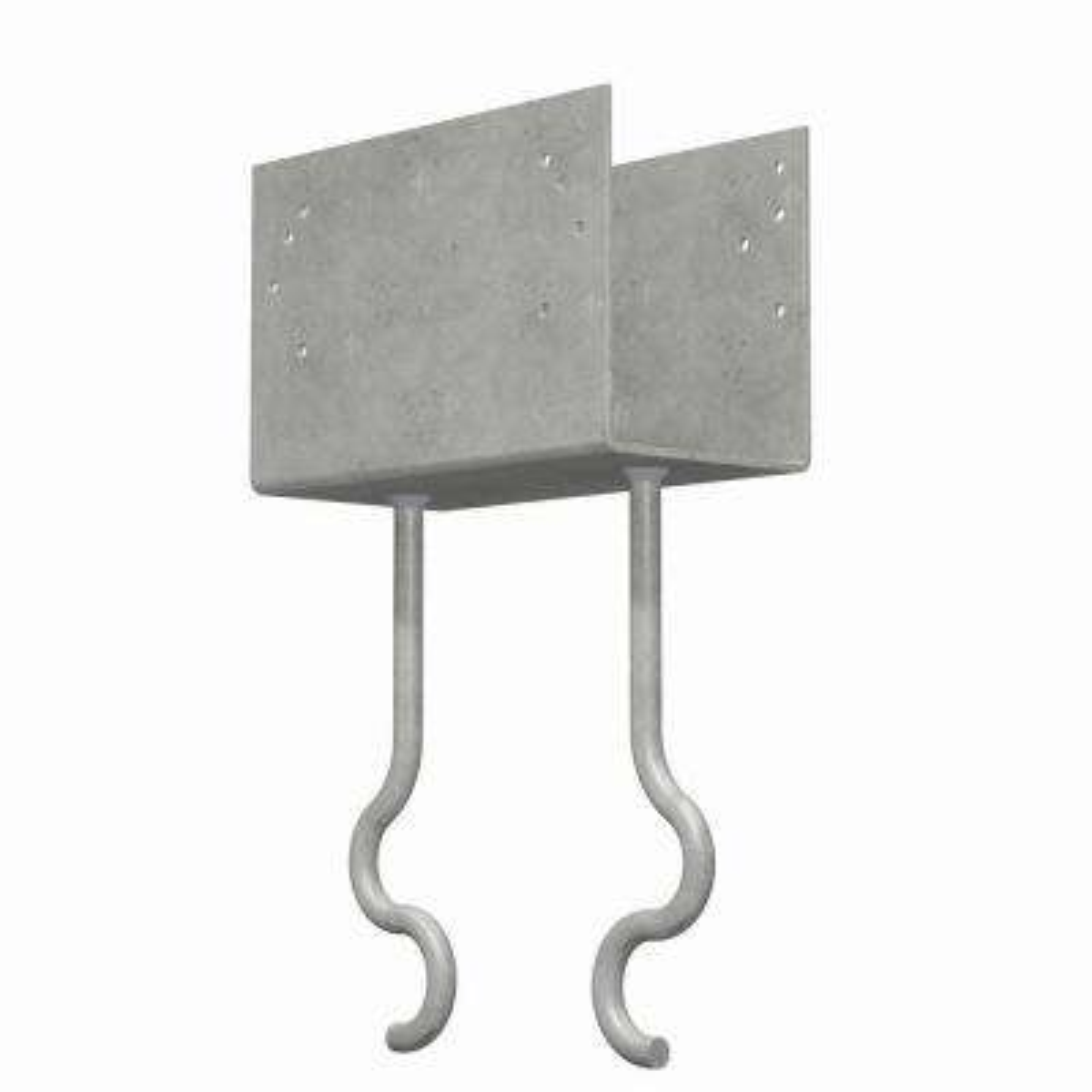 7-Gauge Hot-Dip Galvanized Embedded Column Cap with Screw