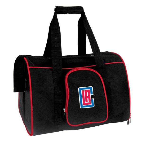 Denco NBA Los Angeles Clippers Pet Carrier Premium 16 in. Bag in Red