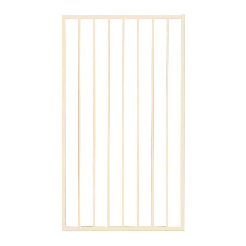 First Alert Premium Series 3 ft. W x 5 ft. H White Steel Fence Gate