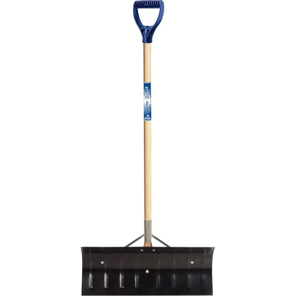 True Temper 24 in. D-Grip Steel Snow Shovel-DISCONTINUED