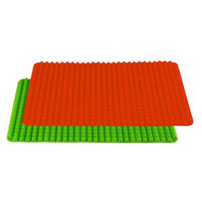 Healthy Homewares Red Green Silicone Baking Sheet (2-Pack)