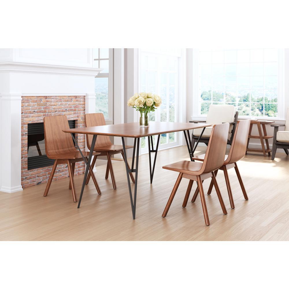 Audrey Walnut Dining Chair (Set of 2)