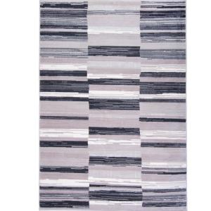 Home Dynamix Bazaar City Stripes Gray 7 ft. 10 inch x 10 ft. 2 inch Indoor Area Rug by Home Dynamix