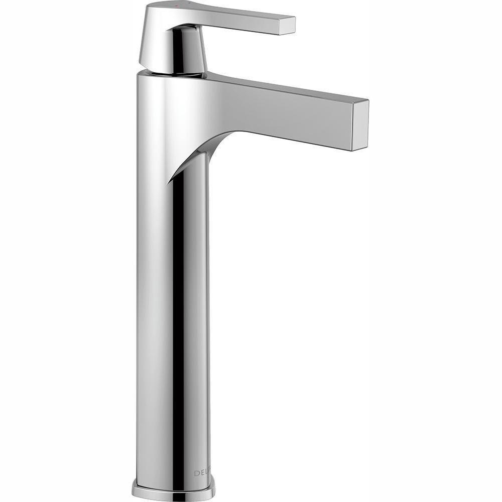 Zura Single Hole Single-Handle Vessel Bathroom Faucet in Chrome