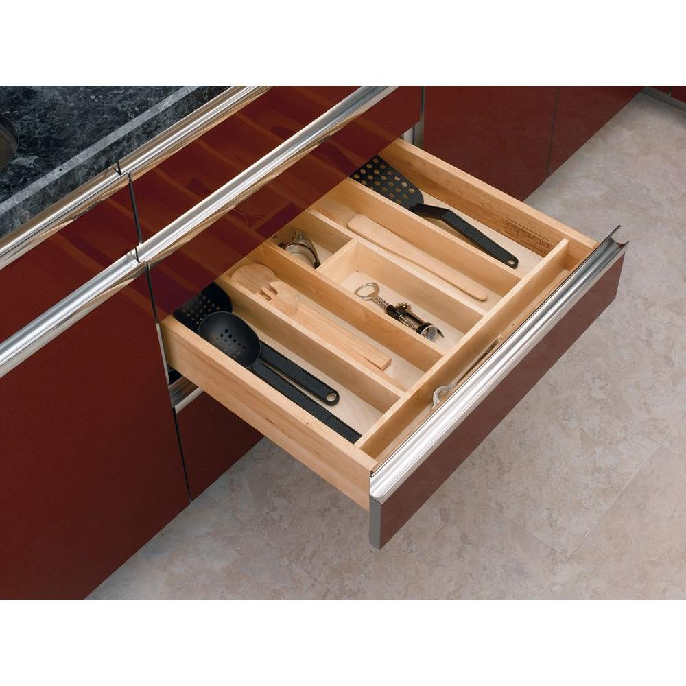 rev a double insert amazon knife home drawer block shelf kitchen drawers dp com