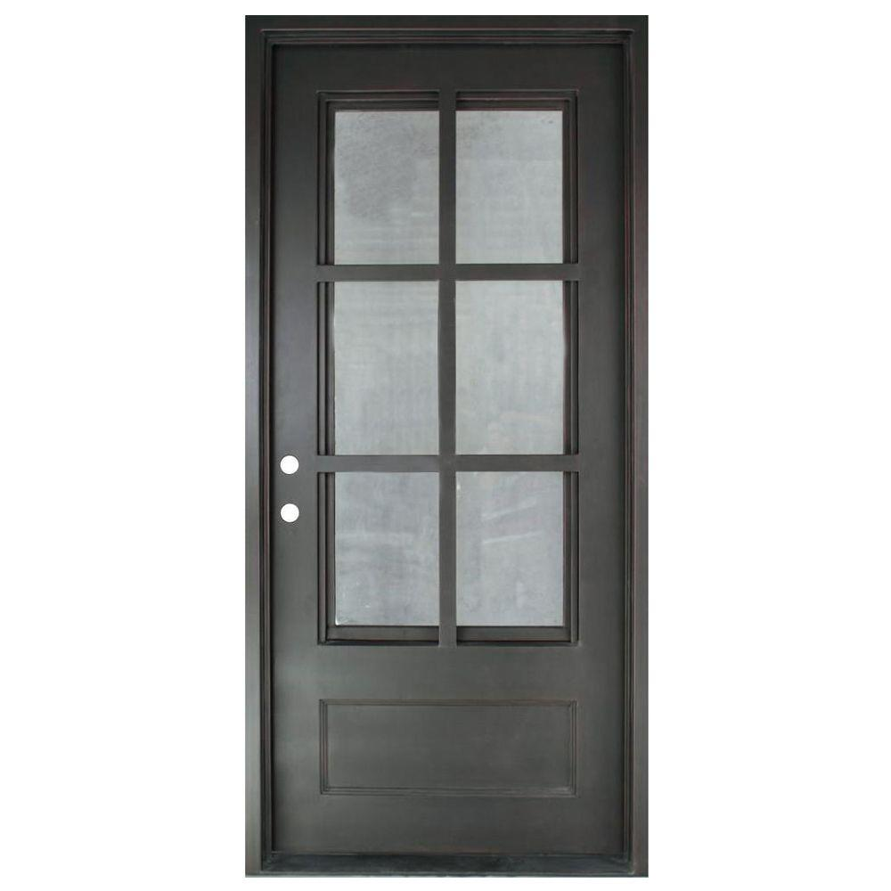 37.5 in. x 81.5 in. Craftsman Classic 3/4 Lite Painted Oil Rubbed  sc 1 st  Home Depot & Clear - Iron Doors - Front Doors - The Home Depot