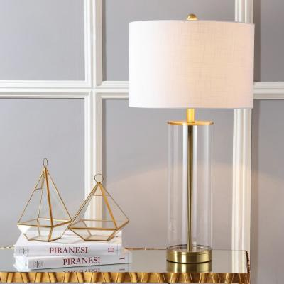 Collins 29.25 in. H Brass Gold Glass Table Lamp