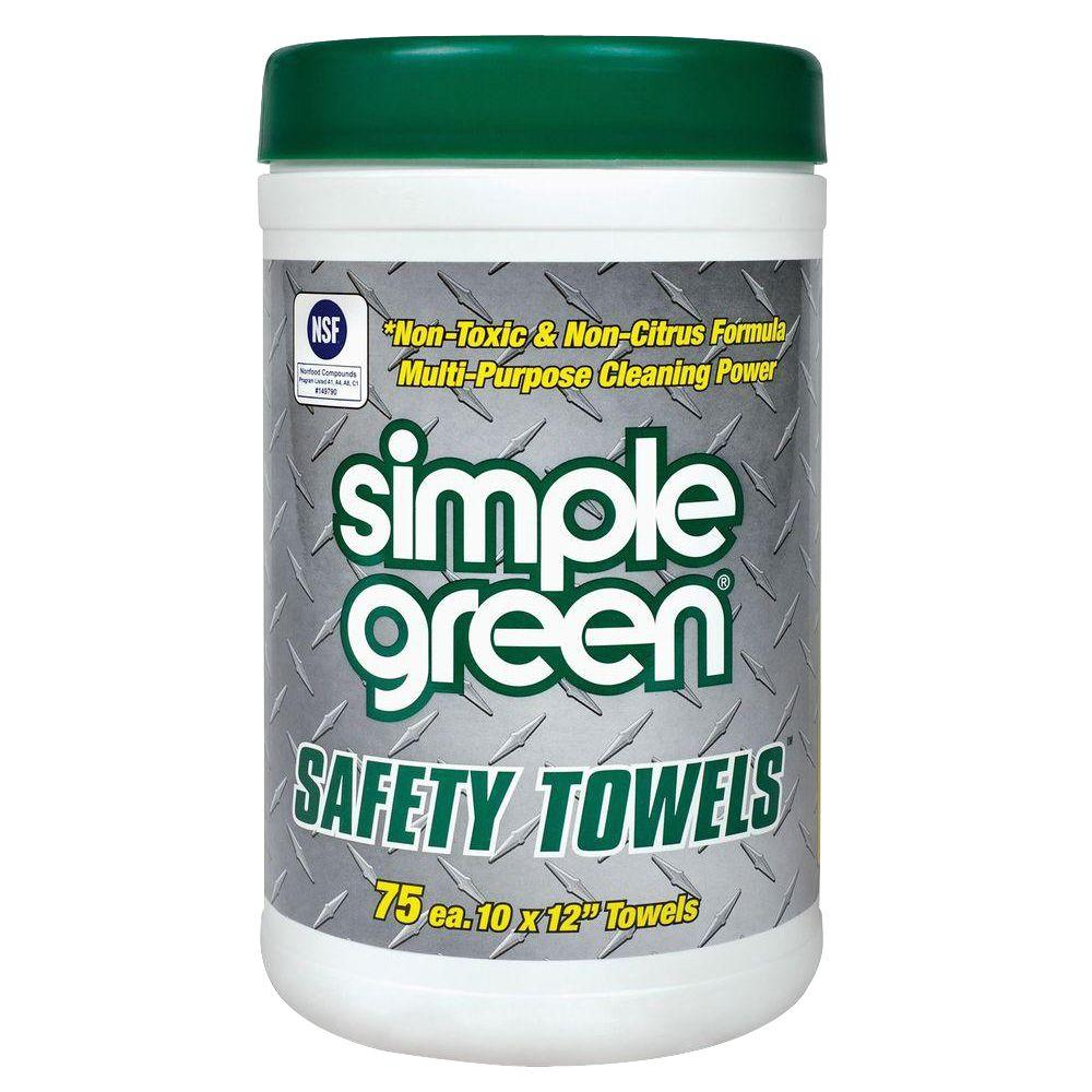 Simple Green 10 in. x 11.75 in. Multi-Purpose Safety Towels (75 Per Canister)