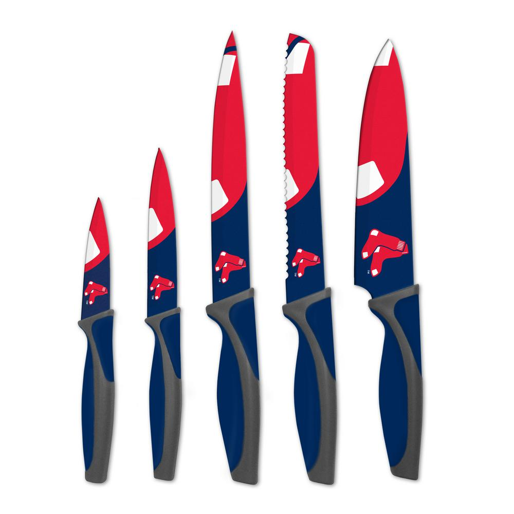 MLB Boston Red Sox 5-Piece Kitchen Knives