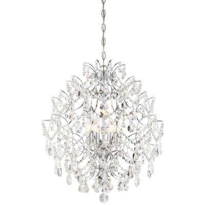 Isabella's Crown 6-Light Chrome Chandelier