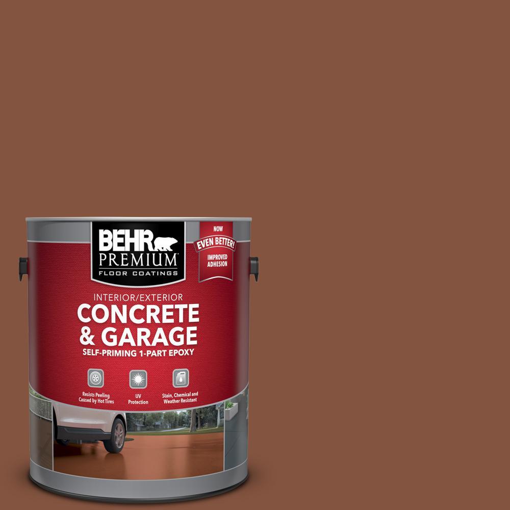 BEHR Premium 1 gal. #S210-7 October Leaves Self-Priming 1-Part Epoxy Satin Interior/Exterior Concrete and Garage Floor Paint