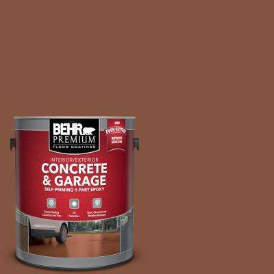 1 gal. #S210-7 October Leaves Self-Priming 1-Part Epoxy Satin Interior/Exterior Concrete and Garage Floor Paint