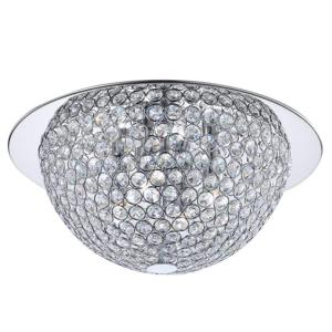 Home Decorators Collection 15 inch 3-Light Mirrored Stainless Steel Flushmount with Clear Crystal Accents in Metal Rings by Home Decorators Collection