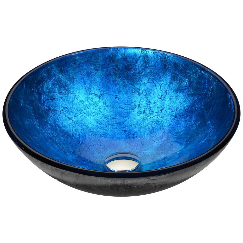 Jonas Vessel Sink in Frosted Blue