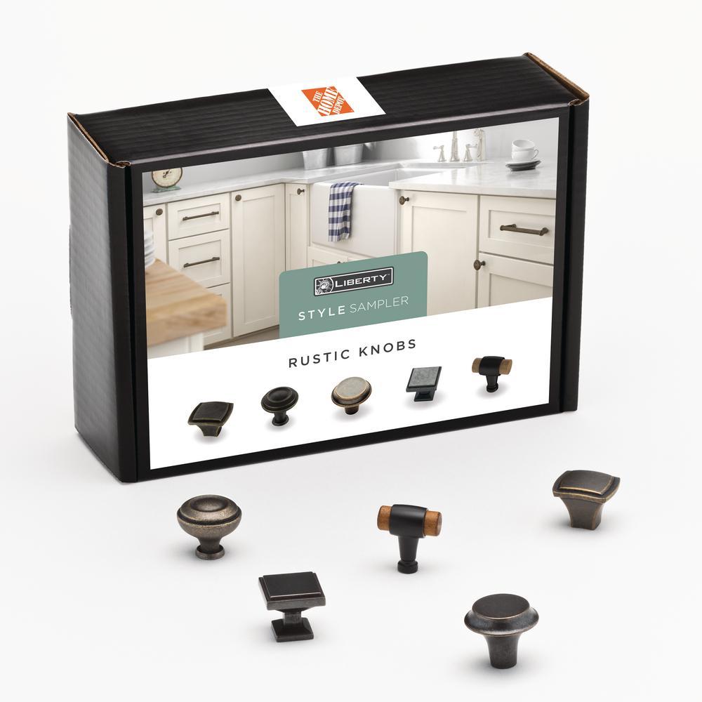 Rustic Cabinet Knob Sample Box (5-Pack)