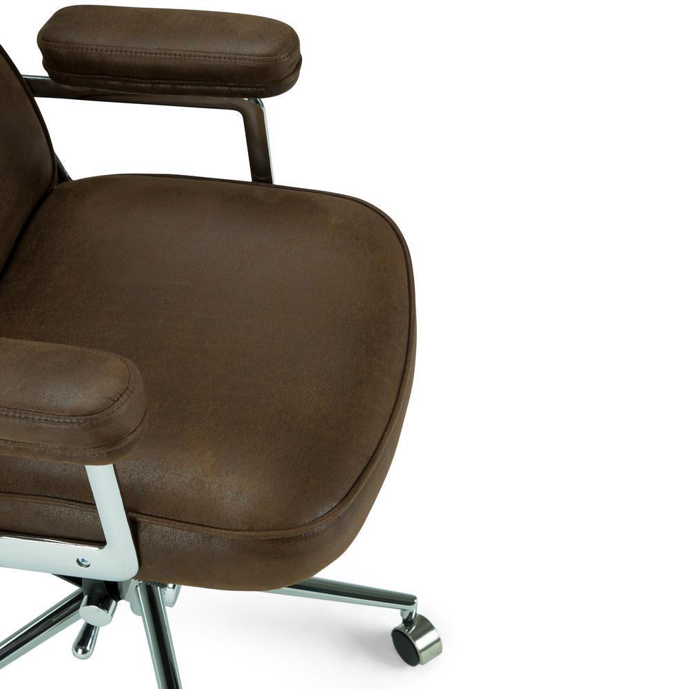 Super Simpli Home Barton Swivel Adjustable Executive Computer Theyellowbook Wood Chair Design Ideas Theyellowbookinfo