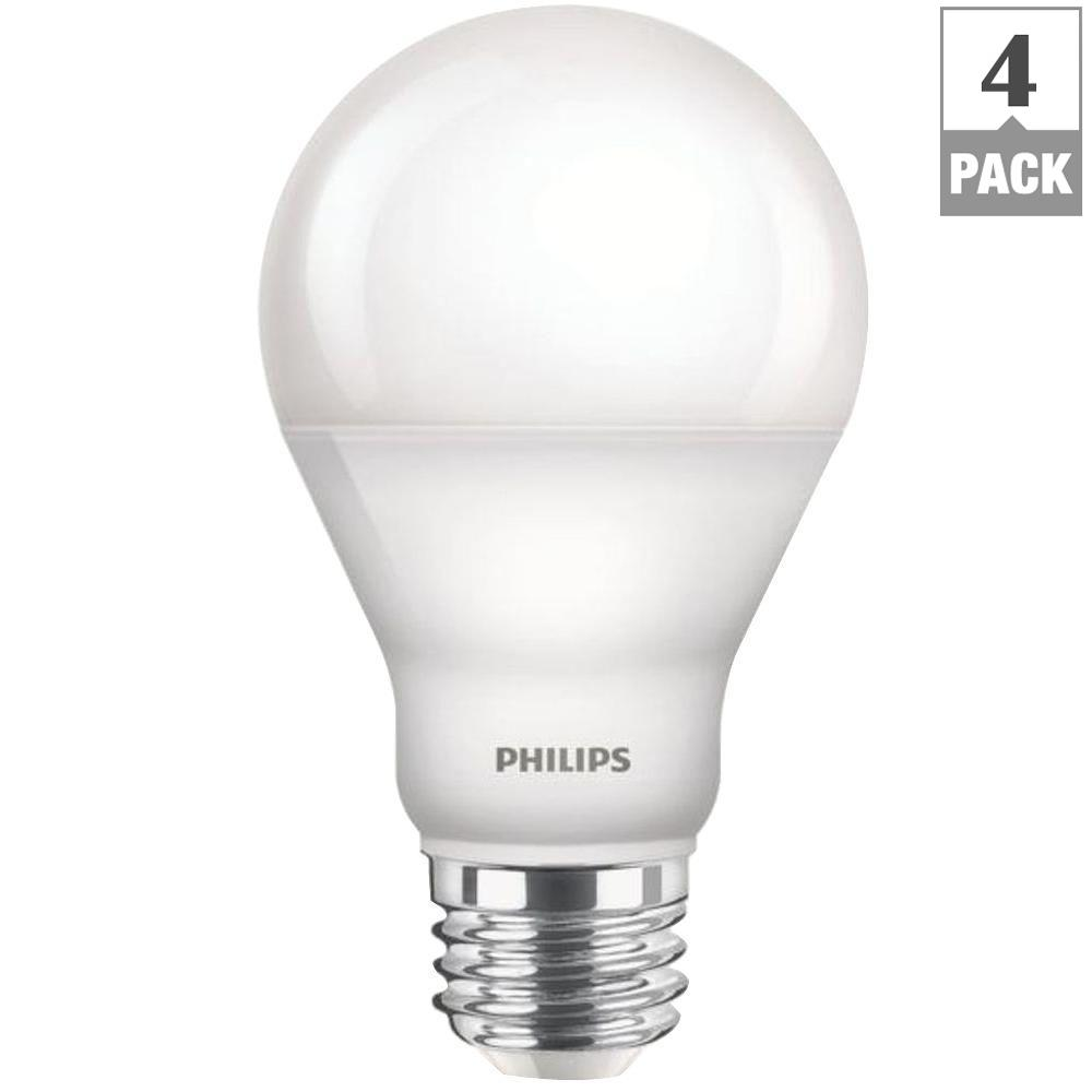 Home Depot Led Light Bulbs: Philips 100-Watt Equivalent A19 LED Light Bulb Daylight (2