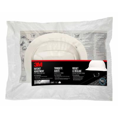 White Full-Brim Non-Vented Hard Hat with Ratchet Adjustment