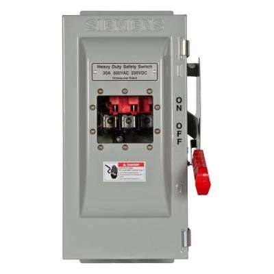 Heavy Duty 30 Amp 600-Volt 3-Pole Type 12 Fusible Safety Switch with Window
