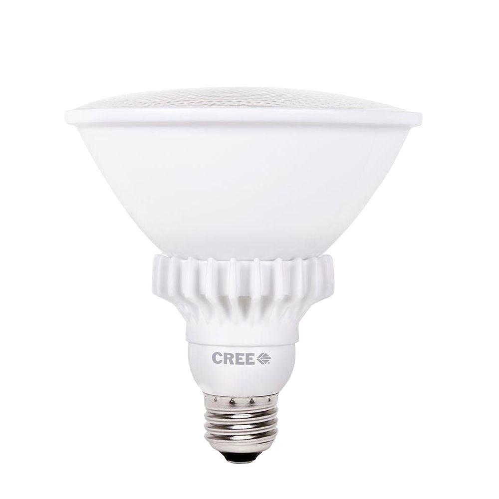 Cree 90W Equivalent Bright White (3000K) PAR38 27 Degree Spot Dimmable LED Spot Light Bulb (3-Pack)