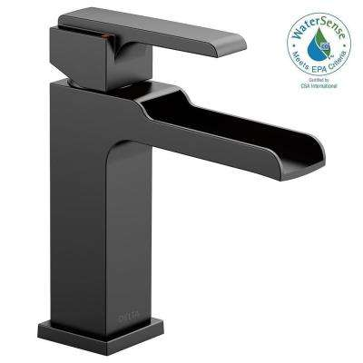 Ara Single Hole Single-Handle Bathroom Faucet Channel Spout in Matte Black