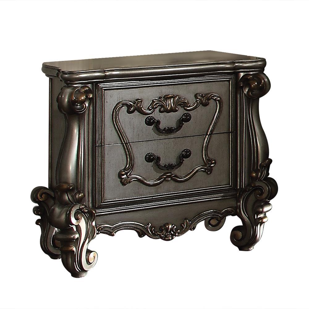 Versailles Antique Platinum Nightstand