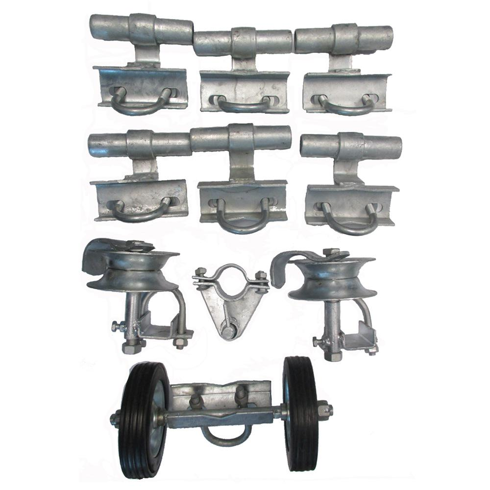 Xcel 3 in  Universal Track Brackets Rolling Gate Hardware Kit, Residential  and Commercia Type, Garden Fence